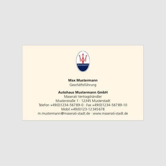 Maserati Visitenkarten
